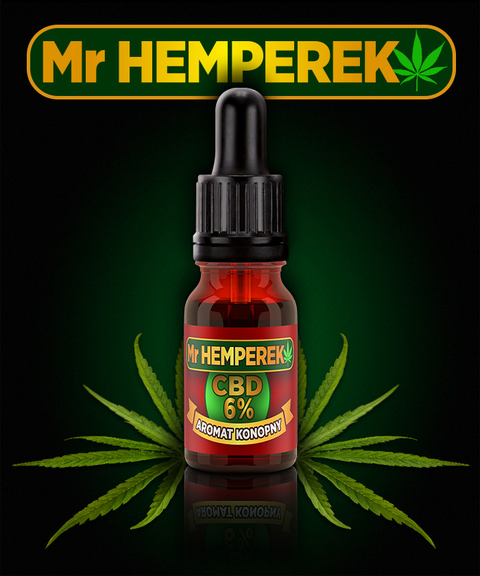 "Aromat Konopny ""Mr HEMPEREK"" 6% CBD"