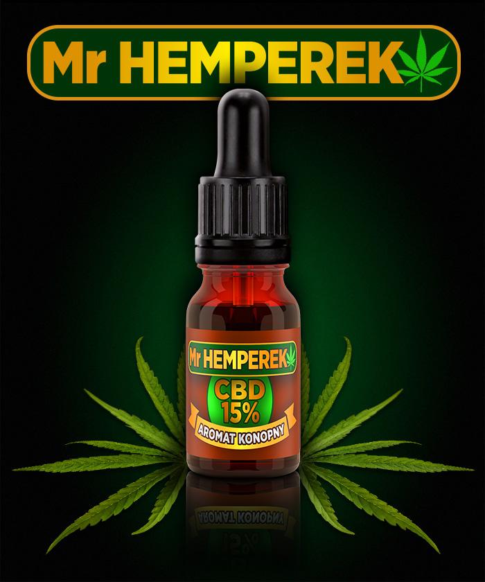 "Aromat Konopny ""Mr HEMPEREK"" 15% CBD"