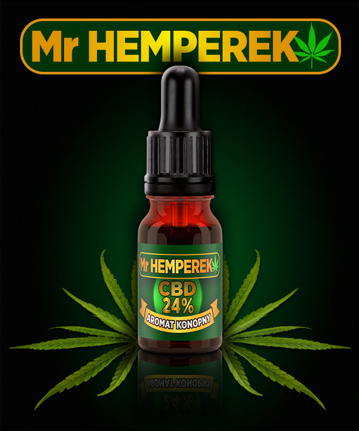 "Aromat Konopny ""Mr HEMPEREK"" 24% CBD"